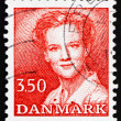 Postage stamp Denmark 1990 Margrethe, Queen of Denmark — Stock Photo