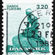 Postage stamp Denmark 1989 The Little Mermaid, Sculpture by Edva - Zdjęcie stockowe