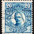 Postage stamp Sweden 1911 Gustaf V, King of Sweden - Stok fotoğraf