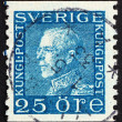 Postage stamp Sweden 1925 Gustaf V, King of Sweden - Stock fotografie