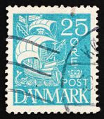Postage stamp Denmark 1927 Caravel, Sailing Ship — Stock Photo