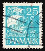 Postage stamp Denmark 1927 Caravel, Sailing Ship — Stock Photo