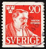 Postage stamp Sweden 1945 Viktor Rydberg, Writer — Stock Photo
