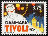 Postage stamp Denmark 1993 Pierrot by Thor Bogelund, Poster — Stock Photo
