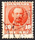 Timbre-poste danemark 1907 frederik viii, roi de danemark — Photo