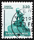 Postage stamp Denmark 1989 The Little Mermaid, Sculpture by Edva — Stock Photo