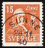 Postage stamp Sweden 1939 Carl von Linne, Linnaeus, Botanist — Stock Photo