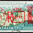 Postage stamp Italy 1986 shows Sacred Mountain of Varallo Monast — Stock Photo