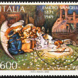 Postage stamp Italy 1990 shows Nativity by Emidio Vangelli - Foto Stock