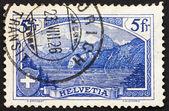 Postage stamp Switzerland 1914 The Rutli Mountain — Stock Photo