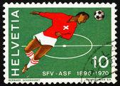 Postage stamp Switzerland 1970 Swiss Soccer Player — Stock Photo