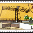 Stock Photo: Postage stamp GDR 1988 Ship Lift and Bridge, Altfriesack