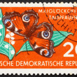 Postage stamp GDR 1959 Lily of the Valley and Butterfly, Nature — Foto Stock