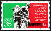 Postage stamp GDR 1974 Bound Guerrillas, Ardeatine Caves, Rome — Stock Photo