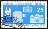 Postage stamp GDR 1959 Photographic Equipment — Stock Photo