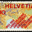 Stock Photo: Postage stamp Switzerland 1968 Map Showing Systematic Planning