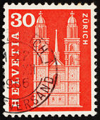 Postage stamp Switzerland 1960 Grossmunster Church, Zurich — Stock Photo