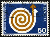 Postage stamp Switzerland 1971 Rising Spiral — Stock Photo