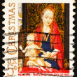 Постер, плакат: Postage stamp USA 1966 Madonna and Child with Angels by Hans Mem
