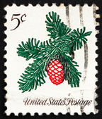 Postage stamp USA 1964 Sprig of Conifer, Christmas — Stock Photo