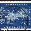 Postage stamp Germany 1960 Chariot Race, Sport Scene from Greek — Stock Photo