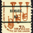 Postage stamp USA 1976 Saxhorns, musical instruments — Stock Photo