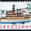 Stock Photo: Postage stamp USA 1992 Ship Toy, Christmas