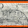 Postage stamp Germany 1973 Rudesheim am Rhein, Germany - Stock Photo