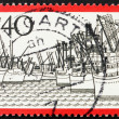 Postage stamp Germany 1973 Ships, Bremen Harbor, Germany - Stock Photo