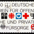 Postage stamp Germany 1980 Public and Private Social Welfare — Stock Photo