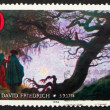 Postage stamp Germany 1974 Painting by Caspar David Friedrich — Stock Photo