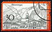 Postage stamp Germany 1970 Oberammergau, Germany — Stock Photo