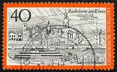 Postage stamp Germany 1973 Rudesheim am Rhein, Germany — Stock Photo
