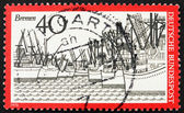 Postage stamp Germany 1973 Ships, Bremen Harbor, Germany — Stock Photo