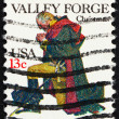 Royalty-Free Stock Photo: Postage stamp USA 1977 USA Washington at Prayer, Valley Forge