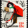 Postage stamp USA 1977 USA Rural Mailbox, Christmas — Stock Photo