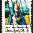 Postage stamp USA 1966 Virgin and Child, Detail from Painting by - Zdjęcie stockowe