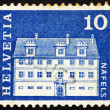 Postage stamp Switzerland 1968 Freuler Mansion, Nafels, Switzerl - Foto de Stock