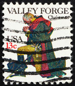 Postage stamp USA 1977 USA Washington at Prayer, Valley Forge — Stock Photo
