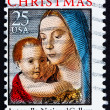 Postage stamp USA 1990 Madonna and Child by Antonello da Mesina - 图库照片