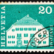 Postage stamp Switzerland 1968 Planta House, Samedan, Switzerlan — Stock Photo