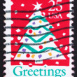 Postage stamp USA 1990 Christmas Tree — Stock Photo