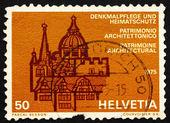 Postage stamp Switzerland 1975 European Architectural Heritage Y — Stock Photo