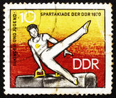 Postage stamp GDR 1970 Athlete on Pommel Horse — Stock Photo
