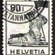 Postage stamp Switzerland 1958 Dying Warrior - Foto Stock