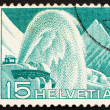 Postage stamp Switzerland 1949 Rotary Snow Plow - Stock fotografie
