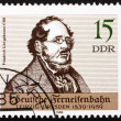 Stock Photo: Postage stamp GDR 1989 Friedrich List