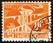 Postage stamp Switzerland 1949 Viaducts — Stock Photo
