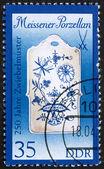 Postage stamp GDR 1989 Breadboard, Meissen Porcelain — Stock Photo