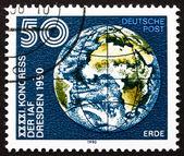 Postage stamp GDR 1990 Earth Globe — Stock Photo